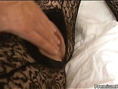 Slut with vehement eyes has wonderful sex with her boyfriend