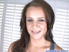 Britany is a brunette hair cutie with a great booty and this babe wants to try-out for our porn site. This Babe starts by engulfing down Ray's schlong as this babe bobs u can watch her merry wazoo boucing up and down. Then this chab bows her over and stretches her constricted cookie and that guy copulates her well. This Babe finishes him off by jerking his ramrod until that guy discharges his load.