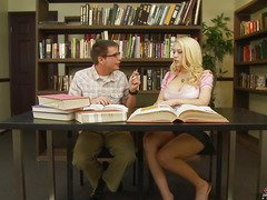 We all know that Kagney Linn Karter isn't a model student.  All that honey wants to do is get some hard knob betwixt her legs.  That Babe tells her study mate here that that honey doesn't want to do homework, just fuck and engulf, then let the cum drip out and onto her books.