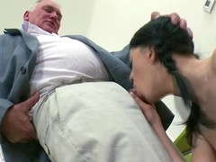 Beauty is offering her cunt for teacher's lusty joy